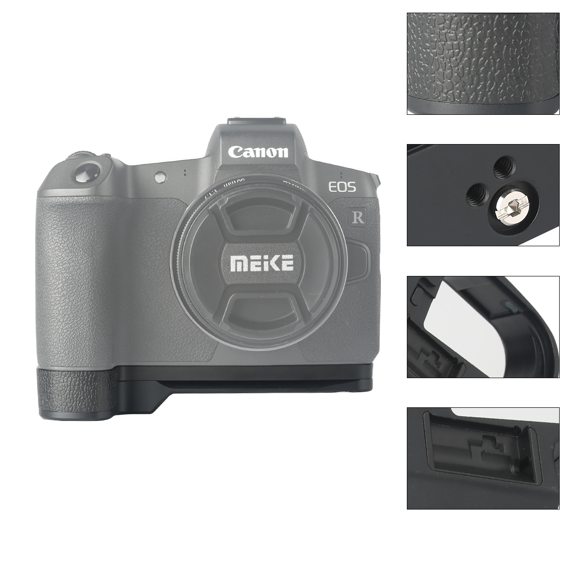 Venidice Cloth Aluminum Alloy Handle Holder Bracket Base with Quick Release Plate for Canon EOS-R Meike MK-EOSRG Metal Hand Grip